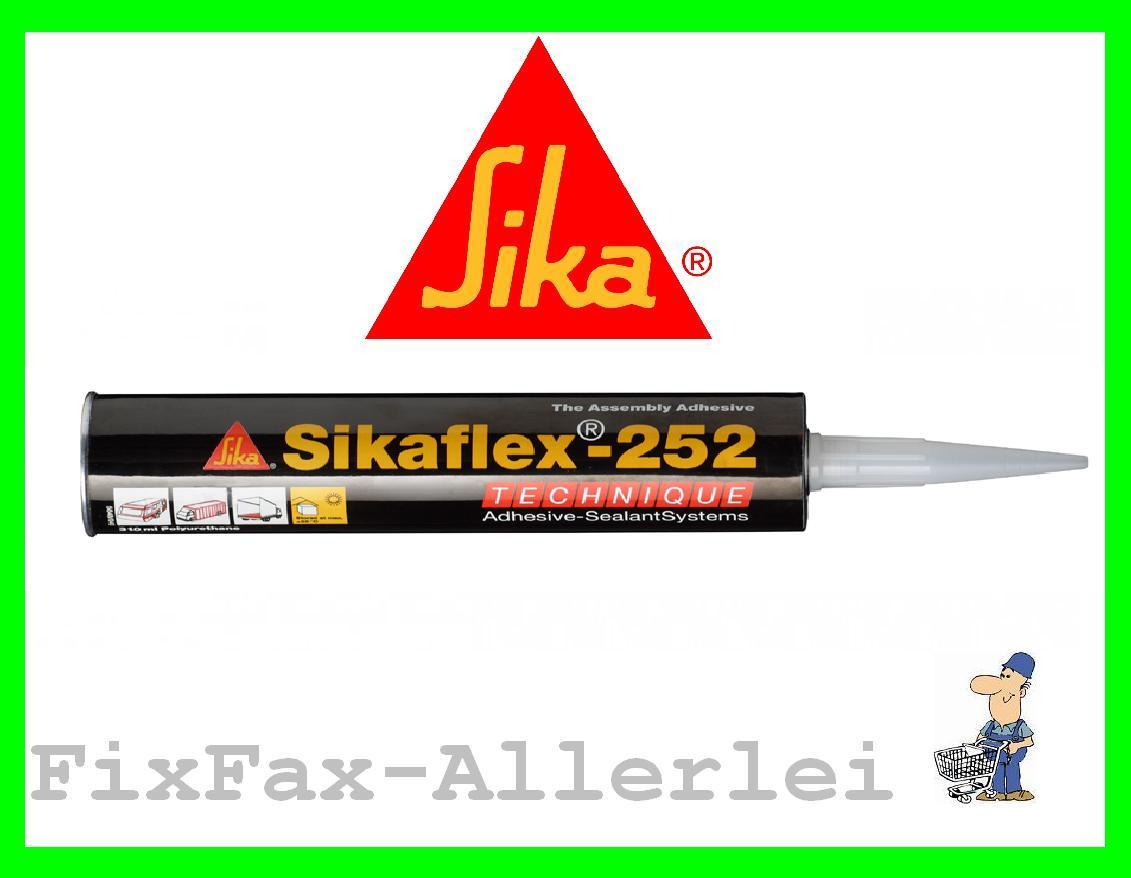 sikaflex 252 kleber holz metall alu 300ml kartusche sika schwarz 37 66 l ebay. Black Bedroom Furniture Sets. Home Design Ideas